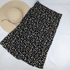 NEW Rachel Zoe Floral Midi Slip Skirt